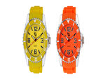 Chappin and Nellson AnalogOrange and Yellow Combo Watches For Women